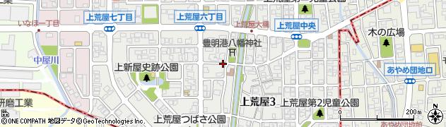 石川県金沢市上荒屋周辺の地図
