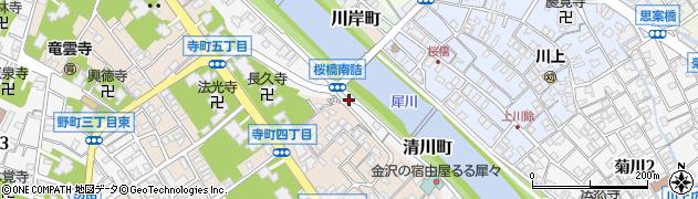 石川県金沢市清川町周辺の地図