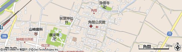 長野県長野市篠ノ井塩崎(角間)周辺の地図