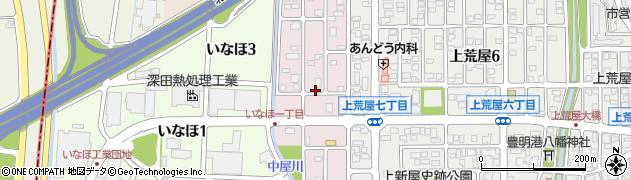 石川県金沢市中屋南周辺の地図
