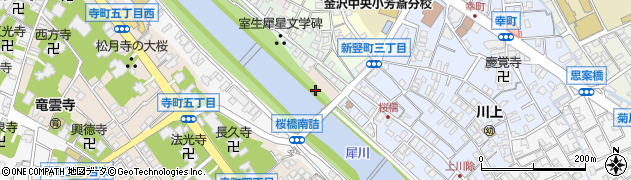 石川県金沢市川岸町周辺の地図