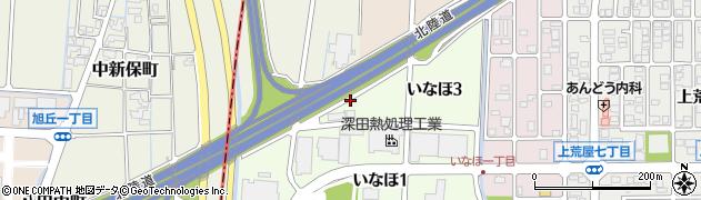 石川県金沢市福増町(上)周辺の地図