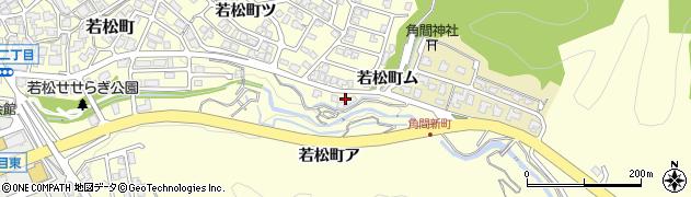 石川県金沢市若松町(茨尾)周辺の地図