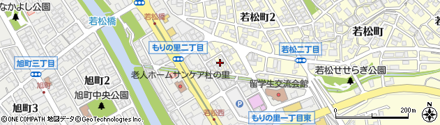 石川県金沢市若松町(南)周辺の地図