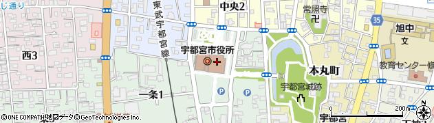 栃木県宇都宮市周辺の地図