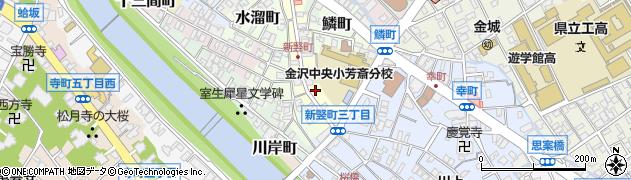 石川県金沢市新竪町周辺の地図