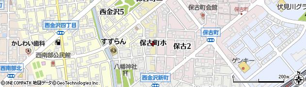 石川県金沢市保古町周辺の地図