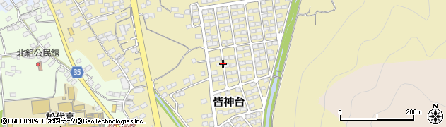 長野県長野市皆神台周辺の地図