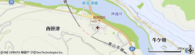 富山県富山市西笹津周辺の地図