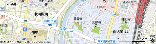 善願寺周辺の地図