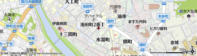 石川県金沢市池田町(1番丁)周辺の地図