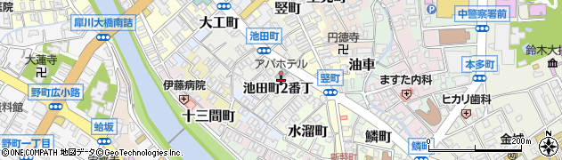 石川県金沢市池田町(2番丁)周辺の地図