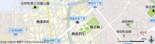 西金沢5周辺の地図