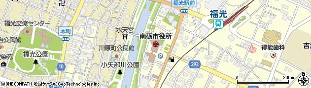 富山県南砺市周辺の地図