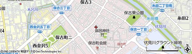 石川県金沢市保古周辺の地図