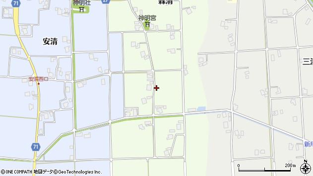 〒939-1527 富山県南砺市森清の地図