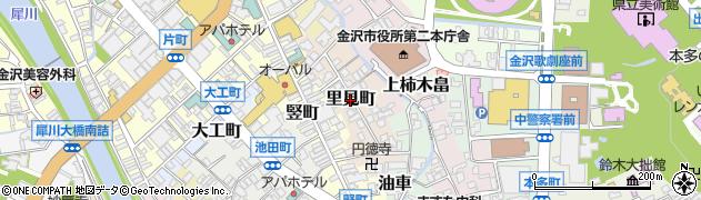 石川県金沢市里見町周辺の地図