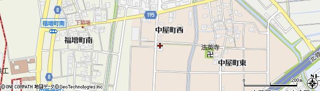 石川県金沢市中屋町(西)周辺の地図
