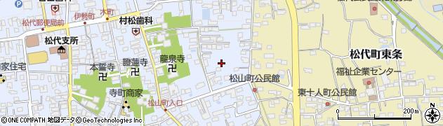 長野県長野市松代町(松代松山町)周辺の地図