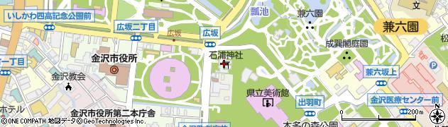 石浦神社周辺の地図
