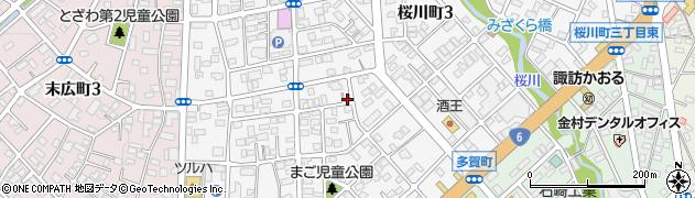 茨城県日立市桜川町周辺の地図