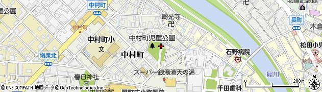 中村神社周辺の地図
