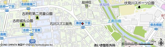 石川県金沢市黒田周辺の地図