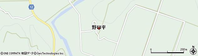 茨城県常陸大宮市野口平周辺の地図