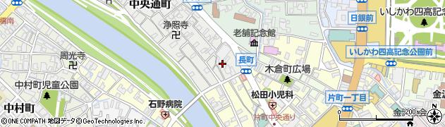 石川県金沢市中央通町周辺の地図