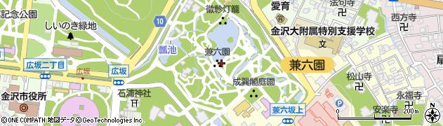 兼六園周辺の地図