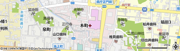 栃木県宇都宮市本町周辺の地図