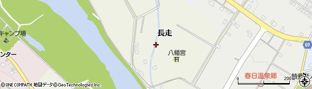 富山県富山市長走周辺の地図