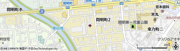 石川県金沢市間明町周辺の地図