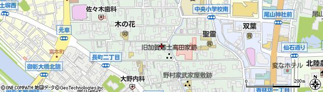石川県金沢市長町周辺の地図