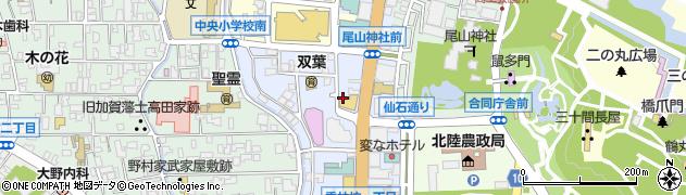 石川県金沢市香林坊周辺の地図