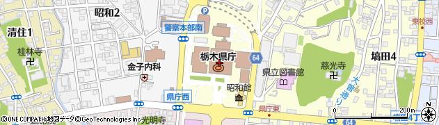 栃木県周辺の地図