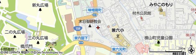 石川県金沢市兼六元町周辺の地図