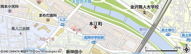 石川県金沢市本江町周辺の地図