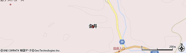 茨城県常陸大宮市金井周辺の地図