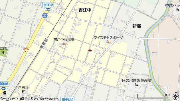 〒939-1702 富山県南砺市吉江中の地図