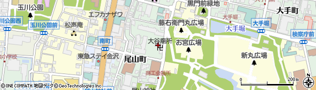 大谷廟所周辺の地図