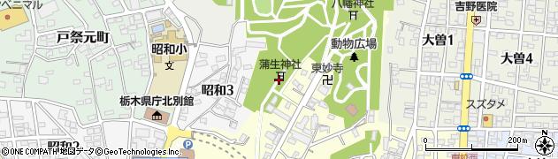 蒲生神社周辺の地図