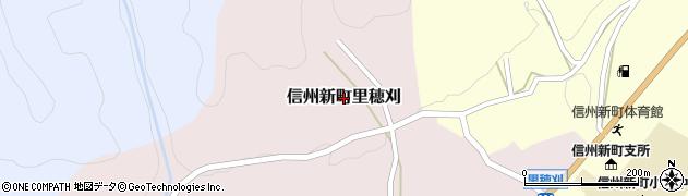 長野県長野市信州新町里穂刈周辺の地図