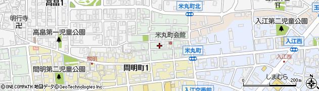 石川県金沢市米丸町周辺の地図