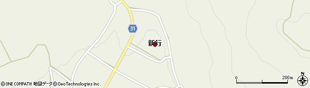 長野県大町市美麻(新行)周辺の地図