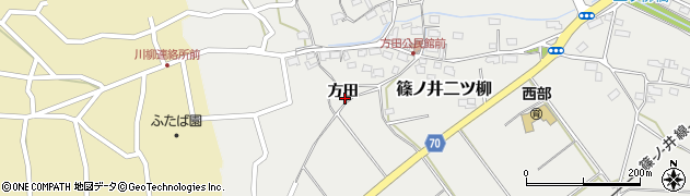 長野県長野市篠ノ井二ツ柳(方田)周辺の地図