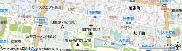 石川県金沢市博労町周辺の地図
