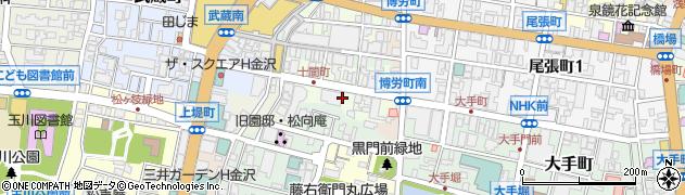 石川県金沢市十間町周辺の地図