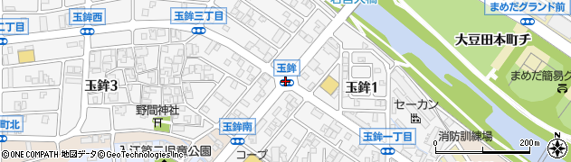玉鉾周辺の地図