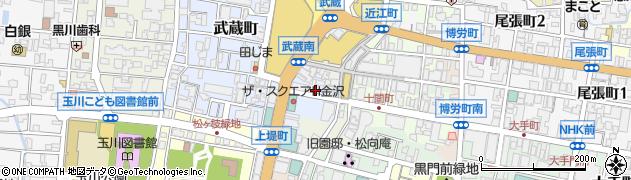 石川県金沢市下堤町周辺の地図